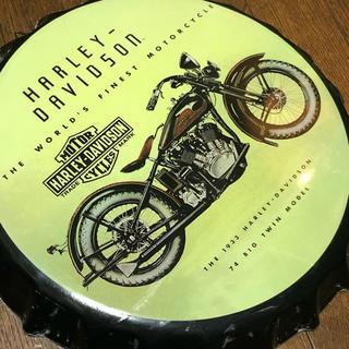 ハーレーダビッドソン(Harley Davidson)のハーレーダビッドソン 王冠 Φ350 ブリキ看板(その他)