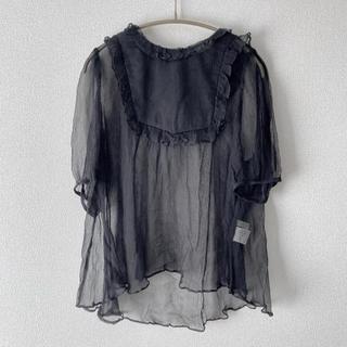 franche lippee - 【美品】フランシュリッペ しんなりひらひらブラウス 黒