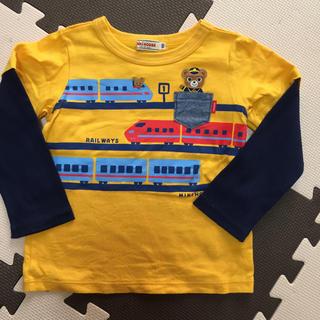 mikihouse - ミキハウス 新幹線プッチー重ね着風長袖Tシャツ