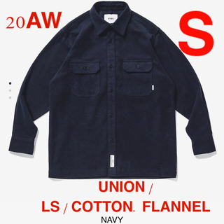 W)taps - M03 UNION / LS / COTTON. FLANNEL NAVY S