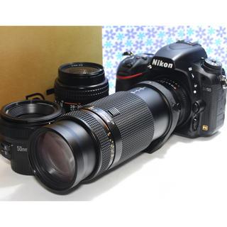 ニコン(Nikon)の超高画質❤️Nikon D750 トリプルレンズセット❤️標準+望遠+単焦点❤️(デジタル一眼)