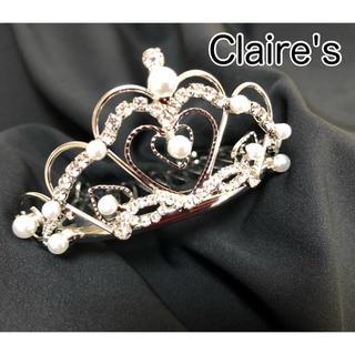 クレアーズ(claire's)の【試着のみ】Claire's パール ティアラ 結婚式 パーティー ハロウィン(カチューシャ)