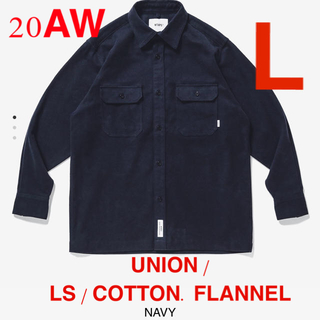 W)taps - M03 UNION / LS / COTTON. FLANNEL NAVY L