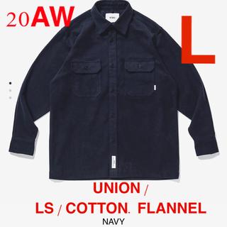 ダブルタップス(W)taps)のM03 UNION / LS / COTTON. FLANNEL NAVY L(シャツ)