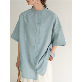 TODAYFUL - select MOCA アシンメトリーパイピングシャツ