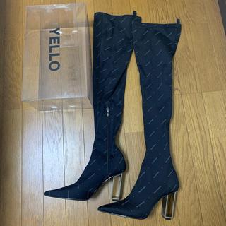 イエローブーツ(Yellow boots)のyello YELLO ロングブーツ ニーハイブーツ 25.5cm XL 星あや(ブーツ)