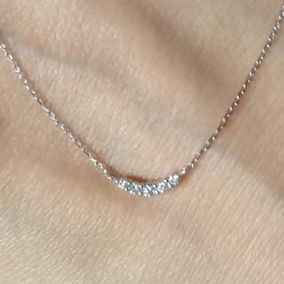 4℃ - 4℃ ライン ダイヤモンドネックレス 10k