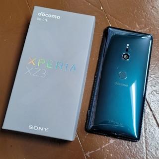 エクスペリア(Xperia)のdocomo simフリーXperia XZ3 SO-01L グリーン 中古(スマートフォン本体)
