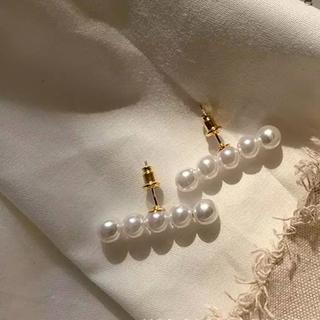 ZARA - #769 import pierce : 5i:ver pearl