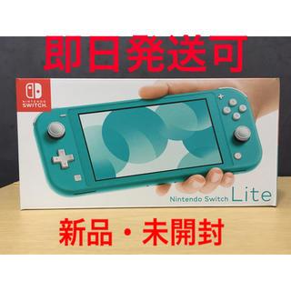 ニンテンドースイッチ(Nintendo Switch)のNintendo Switch lite ターコイズ 新品 未開封(携帯用ゲーム機本体)