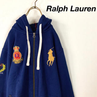 POLO RALPH LAUREN - 美品 希少 POLO Ralph Lauren ビッグポニー刺繍 パーカー金刺繍