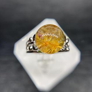 ルチャル花形クォーツ   リング 天然石(リング(指輪))