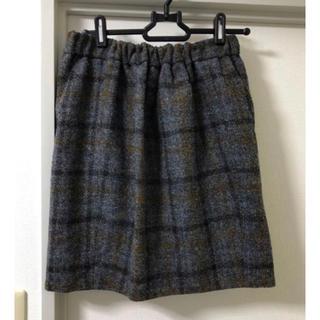 ドゥロワー(Drawer)のDrawer ドゥロワーグレーウールチェックスカート36(ひざ丈スカート)