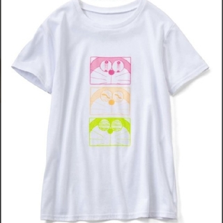 フェリシモ(FELISSIMO)の【フェリシモ】ドラえもん いろんな表情が楽しいプリントTシャツ(Tシャツ(半袖/袖なし))