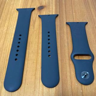 アップルウォッチ(Apple Watch)のApple Watch 44mmケース用ブラックスポーツバンド【純正品】(その他)