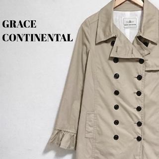 グレースコンチネンタル(GRACE CONTINENTAL)のアースカラー☆ サンドベージュ グレースコンチネンタル コート レディース(ロングコート)