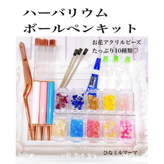 簡単 ハーバリウムボールペン 作成 キット   花材 ビーズ 花材キット(その他)