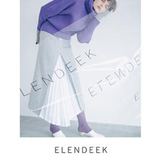IENA - ELENDEEK エレンディーク ツイードプリーツスカート 40