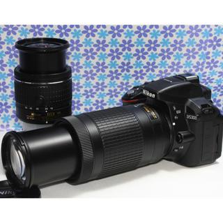 ニコン(Nikon)のWi-Fi内蔵★Nikon D5300 ダブルズームセット★ド迫力Wレンズ★(デジタル一眼)