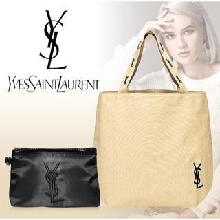 Yves Saint Laurent Beaute - YSL  イヴサンローラン  トートバッグ  &  コスメポーチ
