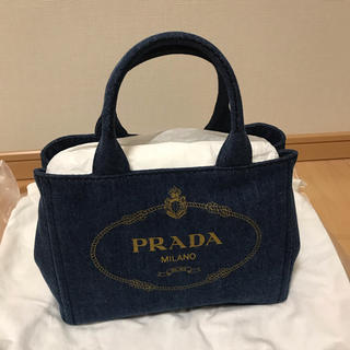 PRADA - 新品 PRADA プラダ カナパ(デニム)BLEU