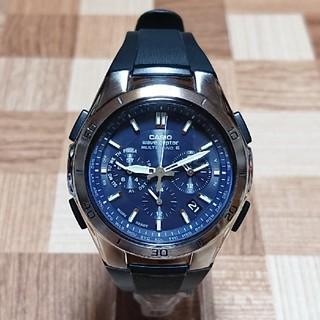 カシオ(CASIO)の【CASIO/WAVECEPTOR】電波ソーラー クロノグラフ メンズ腕時計(腕時計(アナログ))