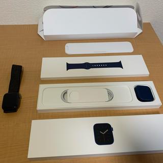 アップルウォッチ(Apple Watch)のapple watch series4 44mm アルミ スポーツループ(黒)(その他)