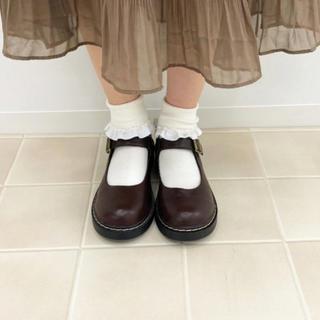 フェイクレザーラウンドトゥシューズ apres jour(ローファー/革靴)