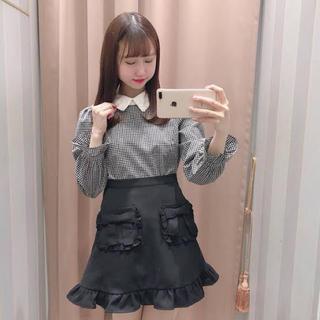 evelyn - ポケットフリルリボンスカート