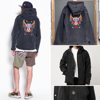 aldies - ALDIES Owl Denim Parka アウルデニムパーカー sizeM
