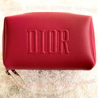 Christian Dior - 【新品未使用箱有】ディオール レザー調 2020 限定 レッド スモールポーチ