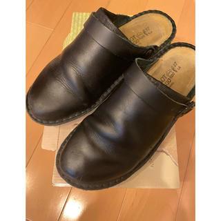 ビルケンシュトック(BIRKENSTOCK)のNAOTO サボ ナオト アイリス IRIS 黒 37 美品(ローファー/革靴)