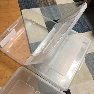 ニトリ(ニトリ)のニトリ ベッド下収納 2つ ボックス ケース(ケース/ボックス)