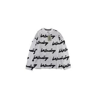 バレンシアガ(Balenciaga)のBALENCIAGAロゴクルーネック ニット セーター(ニット/セーター)