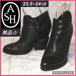 アッシュ(ASH)のASH アッシュ レザーショートブーツ 24㎝(ブーツ)