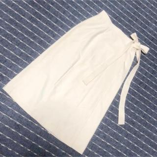 アクアスキュータム(AQUA SCUTUM)のアクアスキュータム Aquascutim 巻きスカート ホワイト きれいめコーデ(ロングスカート)
