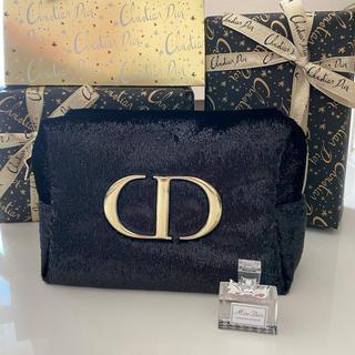Christian Dior - ディオール ポーチ 黒 コスメ 2020年限定 クリスマス コフレ オファー