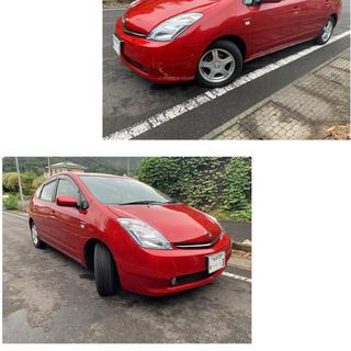 トヨタ‼️プリウス‼️人気の赤‼️車検付き
