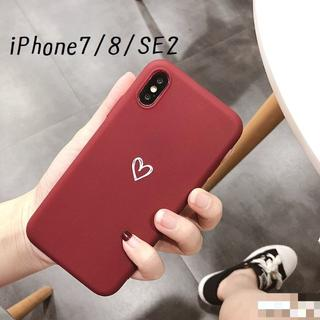 大人気!iPhone7 iPhone8 SE2対応 ケース カバー ボルドー(iPhoneケース)