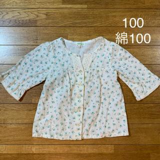 サンカンシオン(3can4on)の100 3can4on 小花柄ブラウス シャツ トップス 長袖(Tシャツ/カットソー)