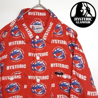 HYSTERIC GLAMOUR - Hysteric Glamour ヒステリックグラマー 長袖 シャツ 総柄 M