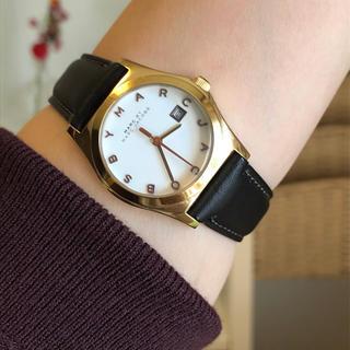 マークバイマークジェイコブス腕時計 美品 稼働中 新品本革ベルト