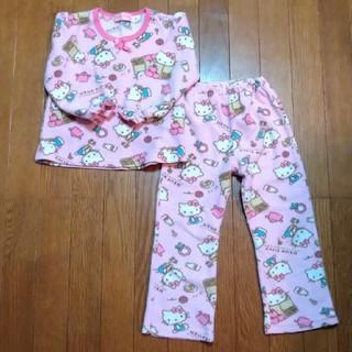 ハローキティ(ハローキティ)のハローキティフリースパジャマ 110cm(パジャマ)