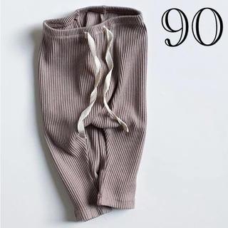 No.050▲90 リブニットレギンス ベビー ブラウン