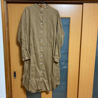 MUJI (無印良品) - 無印良品 麻 シャツ ワンピース Lサイズ
