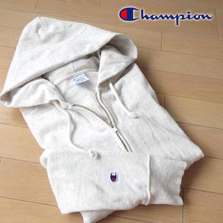 チャンピオン(Champion)の美品 Mサイズ チャンピオン レディース パーカージャケット グレー(パーカー)