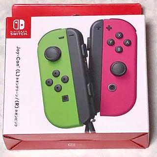 Nintendo Switch - 【新品未開封】Joy-Con ジョイコン ネオングリーン/ ネオンピンク