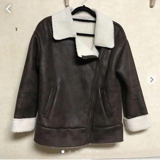 グレイル(GRL)の【グレイル】モコモコ ライダースジャケット (ライダースジャケット)