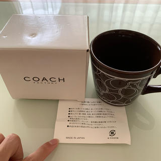 コーチ(COACH)のcoach シグネチャー柄マグ ノベルティー(マグカップ)