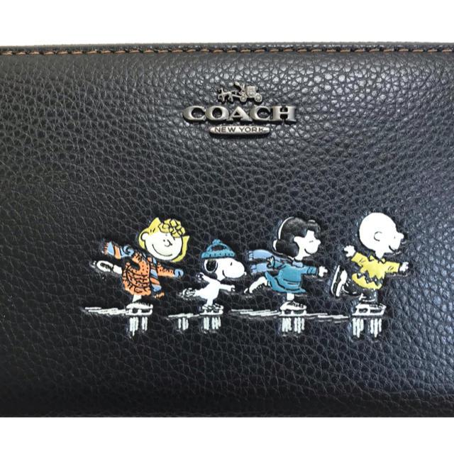COACH(コーチ)のコーチCOACH×PEANUTS SNOOPYのコラボアイススケート可愛い長財布 レディースのファッション小物(財布)の商品写真